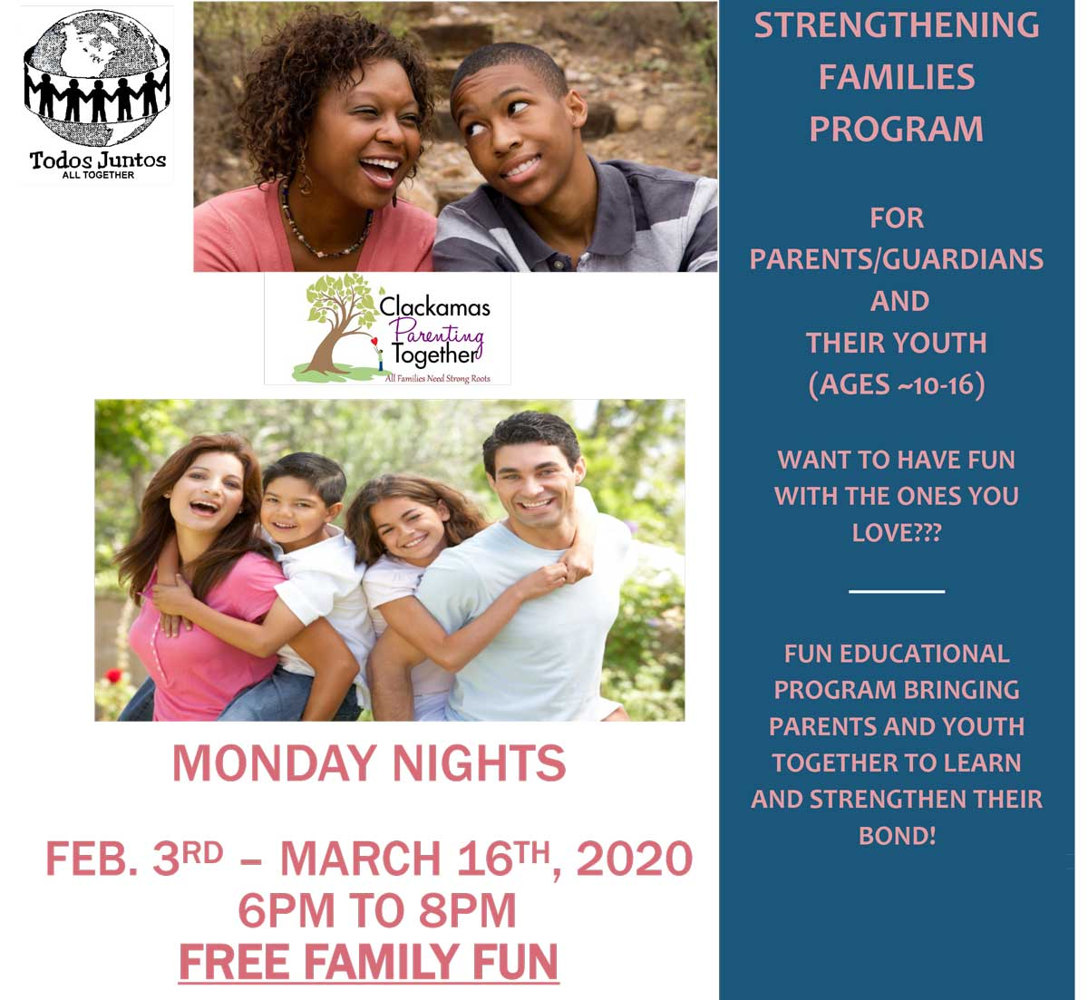 Strengthening Families Program<br>Feb. 3 - Mar. 16