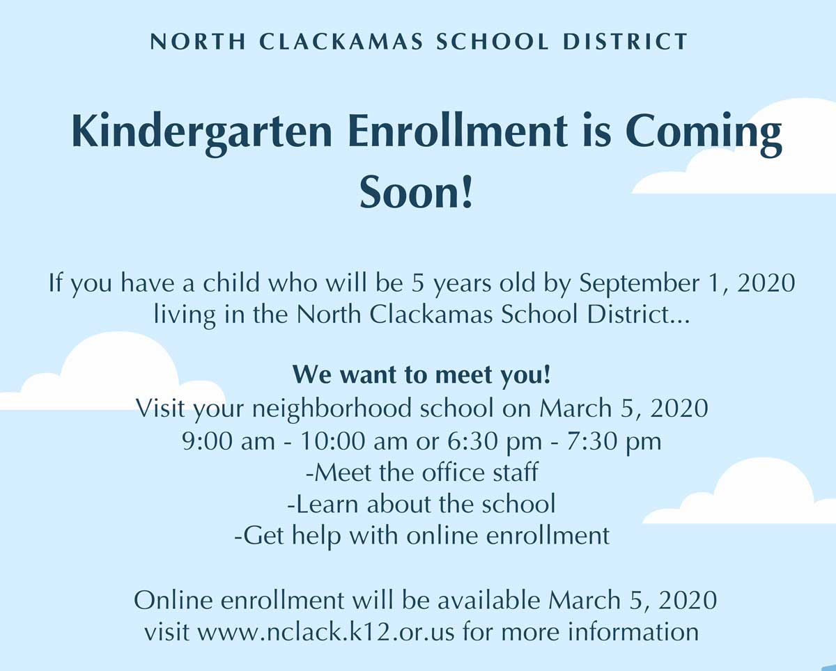 Kindergarten Enrollment<br>Mar. 5